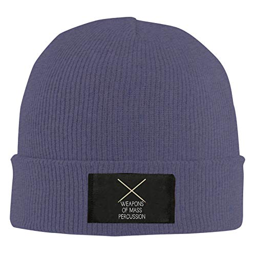 MKDIJIUWL Weapons of Mass Percussion Stretch & Soft Knit Beanie Hat Slouch Skull Cap para hombres y mujeres