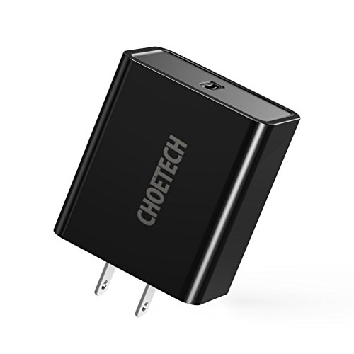 CHOETECH USB C Charger, 18W Power Delivery Type C Wall Charger USB-C Power Adapter Compatible iPhone SE, iPhone 11/11 Pro/11 Pro Max/X/XS/XS Max/XR,iPad Pro,Galaxy S10/Note 9,Google Pixel 3/3 XL