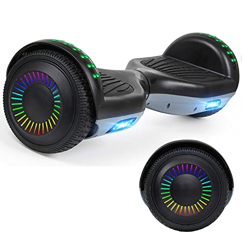 """YHR Hoverboard Two Wheels Hover Board with Bluetooth Speaker LED Lights, 6.5"""" Smart Self Balancing Scooter for Adult Kids Gift, UL2272 Certified"""