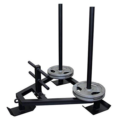 POWRX Gewichtsschlitten – Gym Sled aus massivem Stahl I Sprint- und Zugschlitten I Widerstand-, Kraft- und Lauftraining