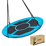 Homde Flying Saucer Swing 40 Inch 660lb Anti-Fade Tree Swing Set Outdoor Indoor Swings with Adjustable Straps for Kids, Men, Women and Teens (40 Inch Upgrade Version)