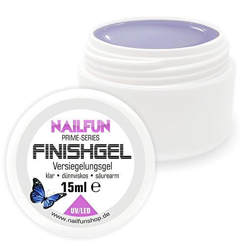 NAILFUN Prime Versiegelungsgel [15ml] UV & LED dünnviskose hochglänzend selbstglättend Finish-Gel