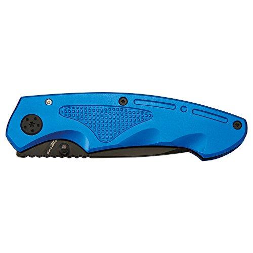 Schwarzwolf outdoor Taschen-Messer Einhand-Messer Gürtelclip Klapp-Messer Outdoor-Messer Klappmesser, farbig, hochwertig mit Clip Matrix blau