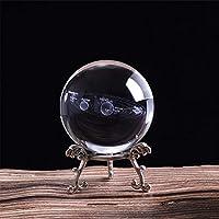 FUYU Sistema Solar 3D Bola de Cristal Planetas Bola de Cristal Globo Grabado con láser Modelo en Miniatura Decoración para el hogar Astronomía Regalos Adorno, como se Muestra, 6 cm