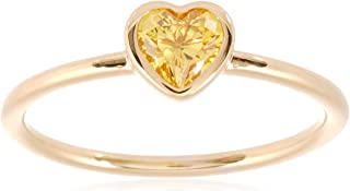 Pandora Women's Heart Shine ring with sunshine yellow cubic zirconia Ring