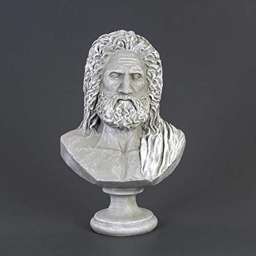 Euro Flora busto Zeus Piedra Color 23x15x37 Cm