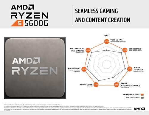AMD Ryzen 5 5600G 6-Core 12-Thread Unlocked Desktop Processor with Radeon Graphics