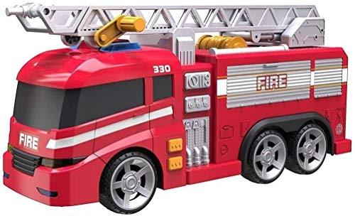 Grandi Giochi- Camion Pompieri TZ Luci e Suoni, Multicolore, GG00934
