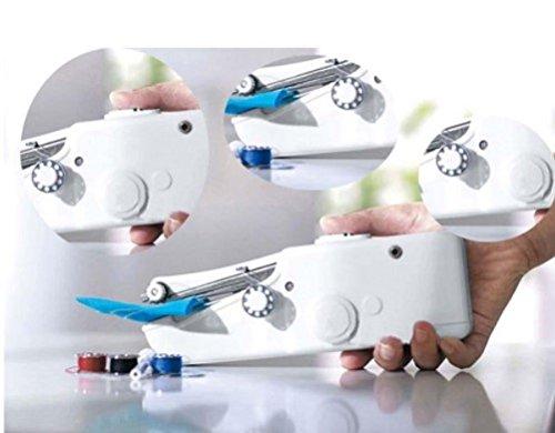 Mini máquina de coser portátil eléctrica. De bolsillo inalámbrico para la casa, en viaje–Máquina de coser a mano -
