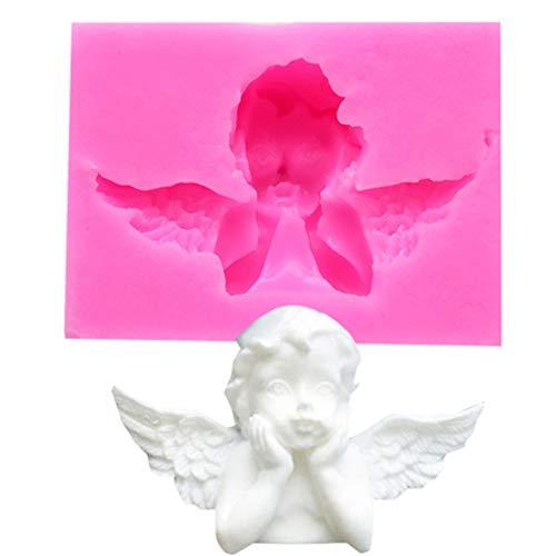 LJSLYJ 3D Engel Silikonform Fondant Kuchenform, handgemachte Seifenform, Kuchen Schimmel Dekorieren