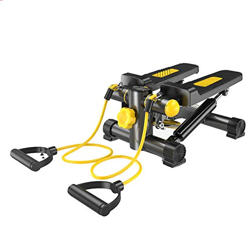 Sunny Health & Fitness Mini-Stepper Höhenverstellbarkeit Drehmaschine, Leiter Fitnessausrüstung, mit LCD-Anzeige und Widerstand Band