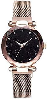 Fashion Women Quartz Wrist Watch Magnetic Starry Sky Clock Ladies Wristwatch for Women