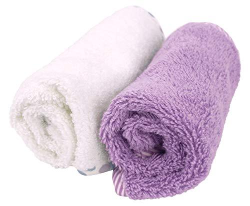 Asciugamani Bambini in Cotone Naturale - Lavette Neonato in Spugna - Super Assorbenti - Ultra Spessore (500 Gsm) - Oeko-Tex 30x30 cm - 4 Pezzi Bianco