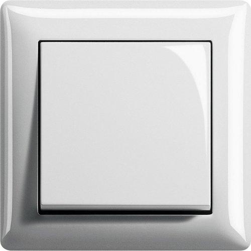 Komplett-Set GIRA, Wechselschalter Set - Reinweiß glänzend System 55