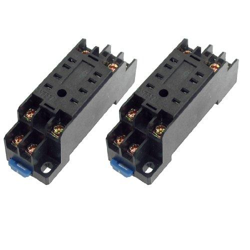Aexit 2 Stücke PYF08 35mm Hutschienen-Relaissockel Basis 8 Pins für HH52P MY2NJ (21c8d89c620e7f7a986d802fa2eb7209)