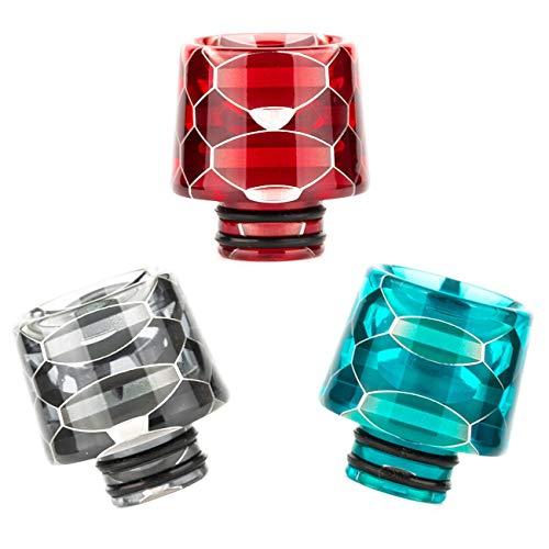 Drip Tip 510 Anschluss für Verdampfer Honeycomb Schlangen Optik Mundstück Driptip Resin E-Zigaretten (Rot)