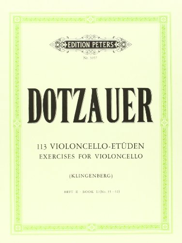 113 Violoncello-Etüden - Heft 2: Nr. 35 - 62 (Grüne Reihe Edition Peters)
