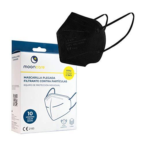 Pack 10 Mascarillas FFP2 De Protección Respiratoria Autofiltrante, [Agarre Oreja], Mascarilla Certificada/Homologada [No Reutilizable], Eficacia Filtración > 94%, EN149:2001+A1:2009, Libre De Grafe