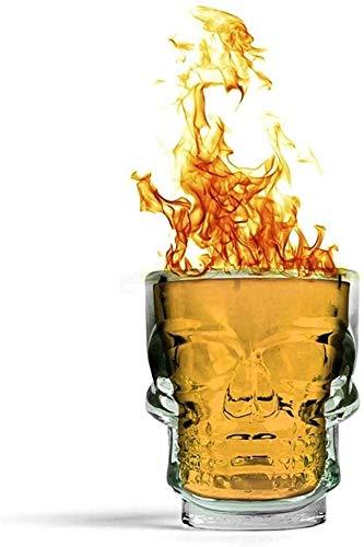Sektgläser Beiläufig 6-stück 35 Ml Whiskyglas Bierglas Kleine Schädelgeist Glas Schädel Glas Weiß Wein Glas Bar Schluck Glas Haushaltsglas Lostgaming (Color : Default)