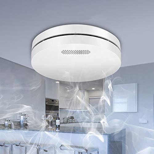 Tuya Smart WiFi CO Alarma de Humo Sensor Inalámbrico de Advertencia de Humo para Uso Doméstico CO Detector para Oficina/Tienda Conectado a La Aplicación Detección Conveniente