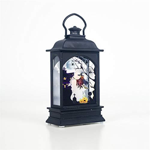 ZLQ Halloween-decoratie, verlichting, binnenaccessoires, voor feestjes, Halloween, retro, lantaarn buiten, creatieve geschenken, nachtlampje, 1 stuk