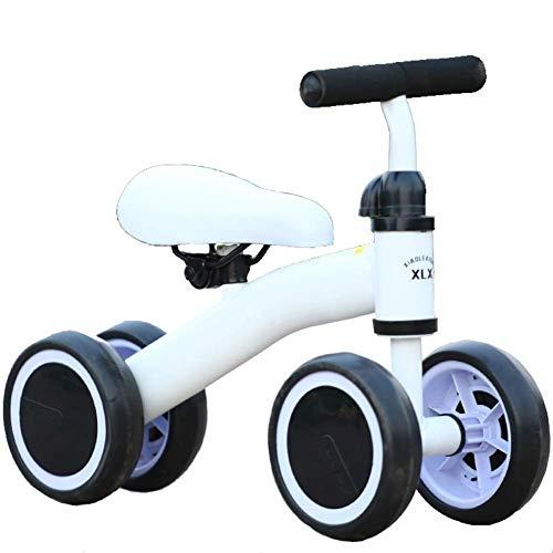 NUBAO Triciclo triciclo para bebé, triciclo, triciclo, triciclo para niños, triciclo para andar de 4 ruedas, triciclos para niños de 1 a 3 años (color: blanco)