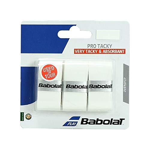 Babolat Pro Tacky X 3 Accesorio Raqueta de Tenis, Unisex Adulto, Blanco, Talla Única