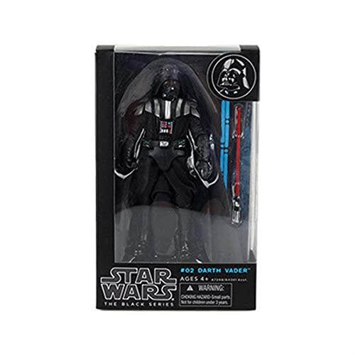JSJJATQ Action Figures The Mandalorian Action Figure Black Series Boba Fett Baby Yoda Rey Darth Maul Kylo Ren Collezione Modello Giocattoli (Color : Darth Vader)