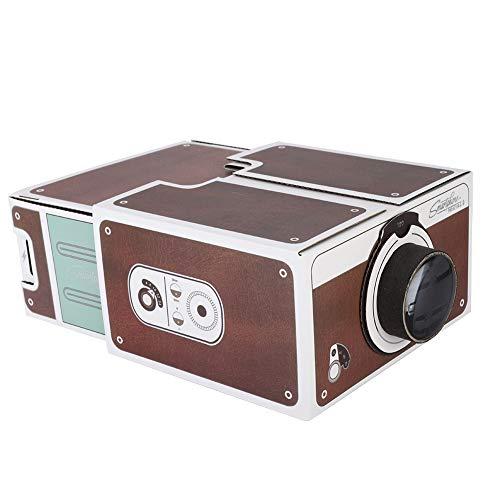 Mugast Proyector de Teléfono Inteligente Smartphone Projector 2.0 con un Aumento de Imagen de 8X para Cine en Casa.