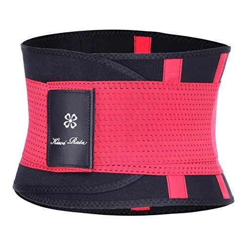 ZWQASP Correa de la Aptitud Thermo Talladora del Cuerpo de la Cintura Trainer Trimmer corsé cinturón de Cintura de Cincher Wrap Entrenamiento Fajas Adelgaza (Color : Red, Size : XL)