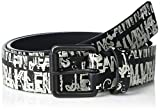 Calvin Klein Boys' 35MM Webbing Strap Belt, Black, XL