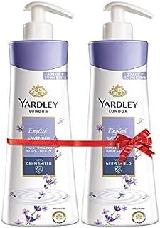 Yardley London English Lavender Moisturizing Body Lotion, Germ shield, 400ml [350ml +50ml free] (Pack of 2)