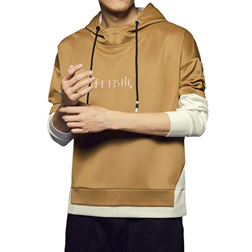 HHyyq Tunnelzug T-Shirt Rundhalsausschnitt Sweatershirt Mantel Winte Jacke Coat Reifen Sweater Bequeme Pullover Herren Klassisch Tops Slim Fit Outwear Blouse Patchwork Kleidung Bluse