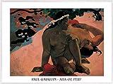 1art1 Paul Gauguin Poster Kunstdruck und Kunststoff-Rahmen