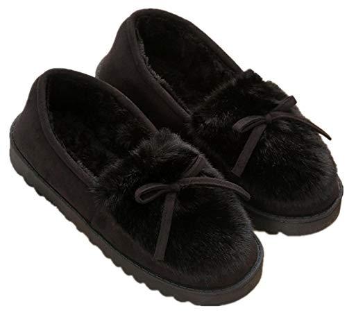 Zapatillas De Estar Por Casa Para Mujer Slippers Comodos Pantuflas Zapatillas Invierno Peluche...