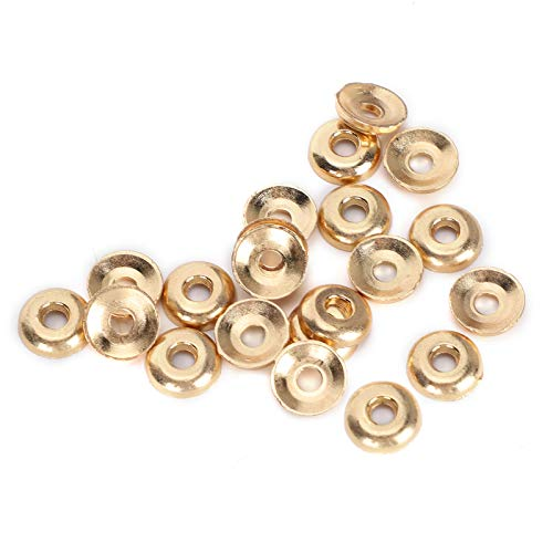SALUTUYA Accesorios de joyería Hechos a Mano de Bricolaje Tornillo de Hierro Pin de Ojo Taza de Perlas para como un Adorno de aro Solo 0.4 x 0.4in