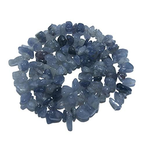 Cuentas de piedra, cuentas de piedra natural de forma irregular para hacer collares y pulseras de moda para hacer joyas (color: azul aventurina)