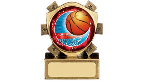 Basketball-Trophäe, Mini Star, 83mm, personalisierbar (A964)
