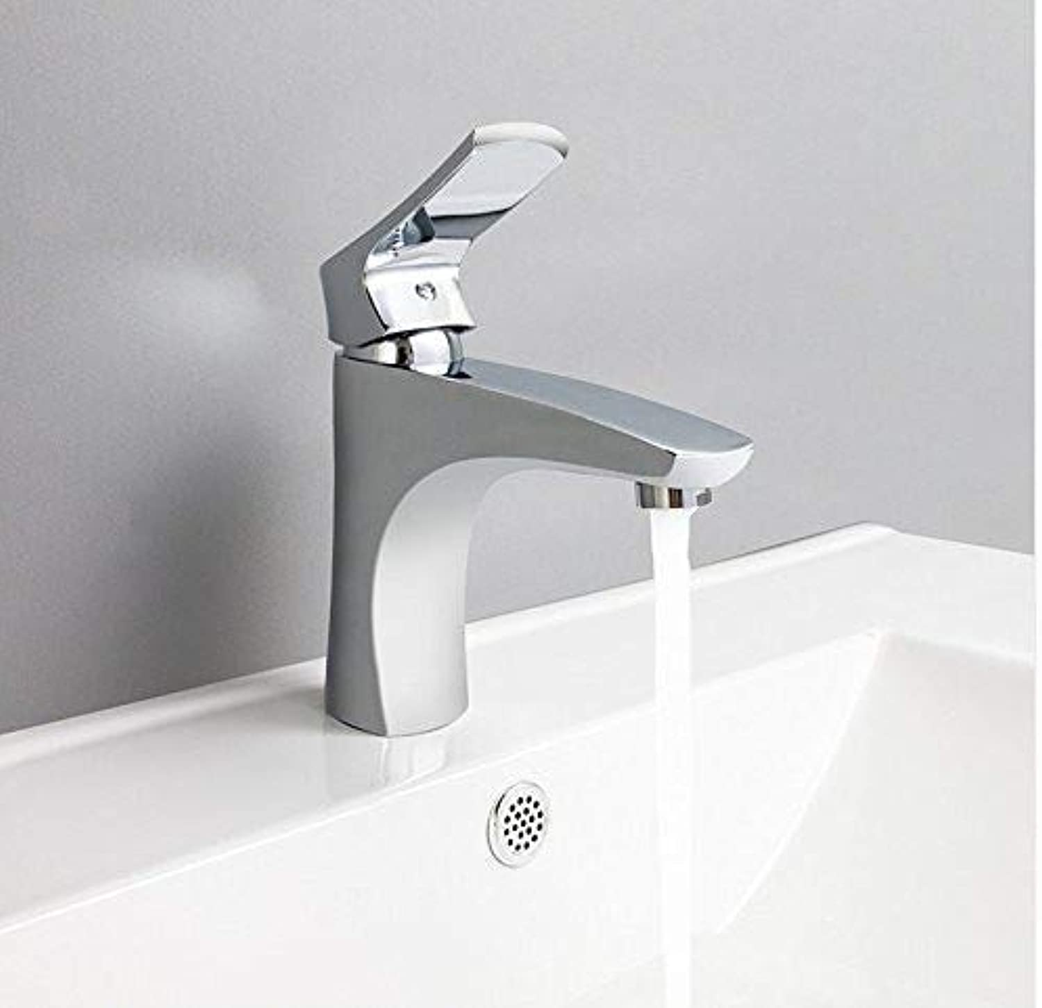 Oudan Taps Faucet Bathroom Basin Taps Basin Mixer Waterfall Bathroom Chrome Cold And Hot Water Tap Deck Mounted Taps (color   -, Size   -)