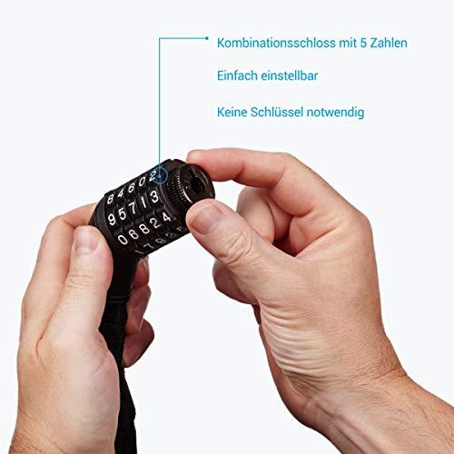 Fahrradschloss Zahlen, Zahlenschloss Fahrrad, Fahrrad Schloss mit Zahlencode, Kettenschloss Kette, Fahrradschloß für Motorrad mit Zahlenkombination. Schloß Zahlen Schwarz Kettenschloß Schlösser Lang - 2