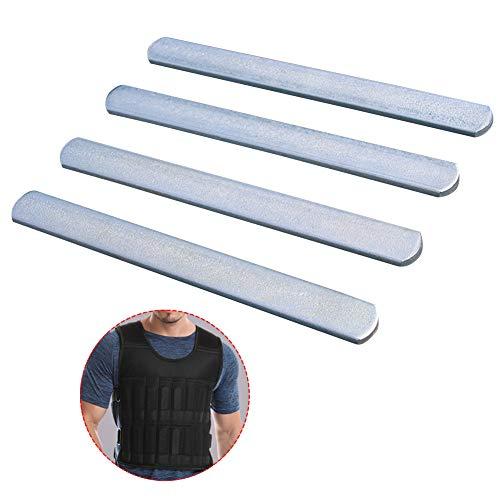 HONUTIGE Stahlplatten für Gewichtswesten, Wiederverwendbare Krafttraining Stahlplatten Fitness Platten für Handgelenk / Knöchel Gewichte, Sportgerät für Laufen, Joggen, Workout Übung