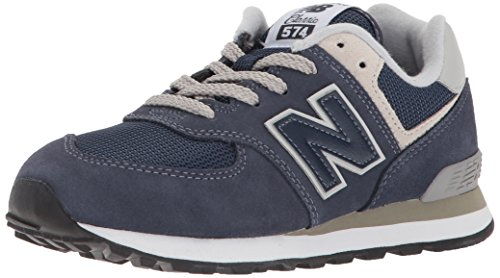 New Balance 574v2 Core Lace, Modelo PC574GV, Zapatillas para Niños, Azul (Navy/Grey GV), 35 EU