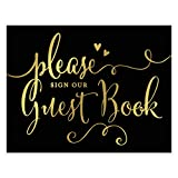 Andaz Press Wedding Party Signs, Black and...