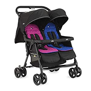 Joie Aire Twin Stroller - Pink/Blue   12