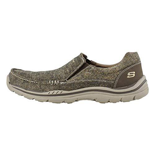 Skechers USA Men's Expected Avillo Relaxed-Fit Slip-On Loafer,Dark Brown,9.5 M US