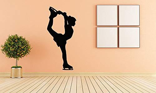 Wandaufkleber, Vinyl, Aufkleber, Wandbild, Raumdekoration, Eiskunstlauf-Figur, Mädchen, Tanz, Schönheit, Sport, Hobby
