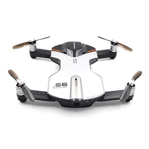 Faironly Wingsland S6 - Custodia per Selfie Drone WiFi FPV con Fotocamera 4K UHD Argento