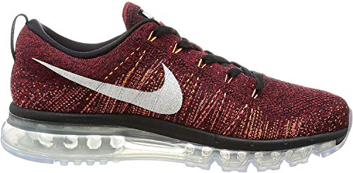 Nike Flyknit air max Mens Running Trainers 620469 Sneakers Shoes (US 10, Black Summit White Team red 011)