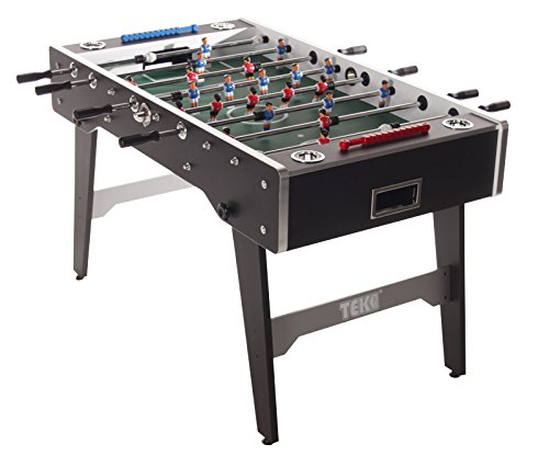 Tekscore Full Size 5ft Folding Football Table (Black Finish)