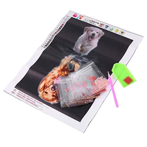 5D DIY Diamond schilderij schaduw Puppy patroon huisdecoratie 5D Acupunctuur Diamond borduurwerk Cross Stitch PictureMulticolor